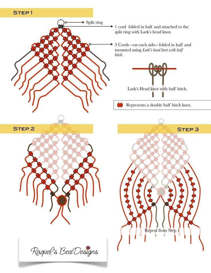 Браслеты макраме: техника и схемы их плетения своими руками