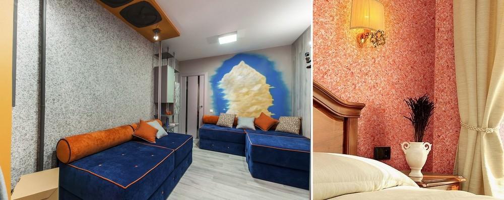 100 лучших идей: жидкие обои в интерьере квартиры и дома на фото