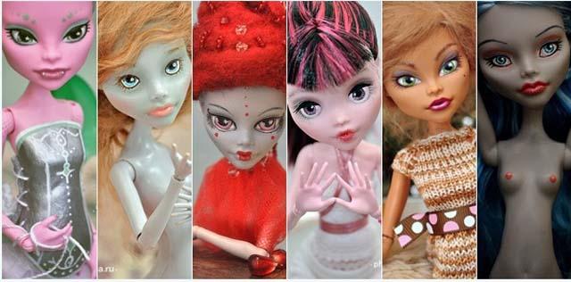 Демонесса ооак из старой куклы. мастер-класс по созданию ооака из куклы monster high — рисуем лицо ооак до и после