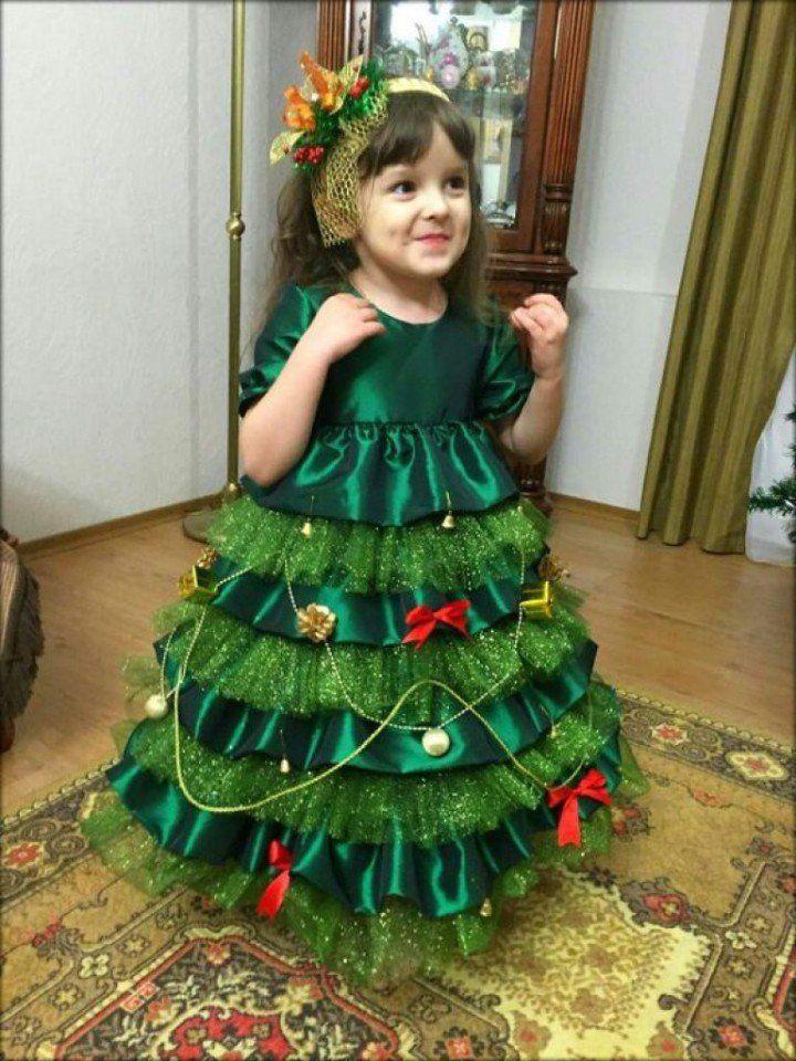 Костюм елочки  для девочки нановый год: своими руками, фото