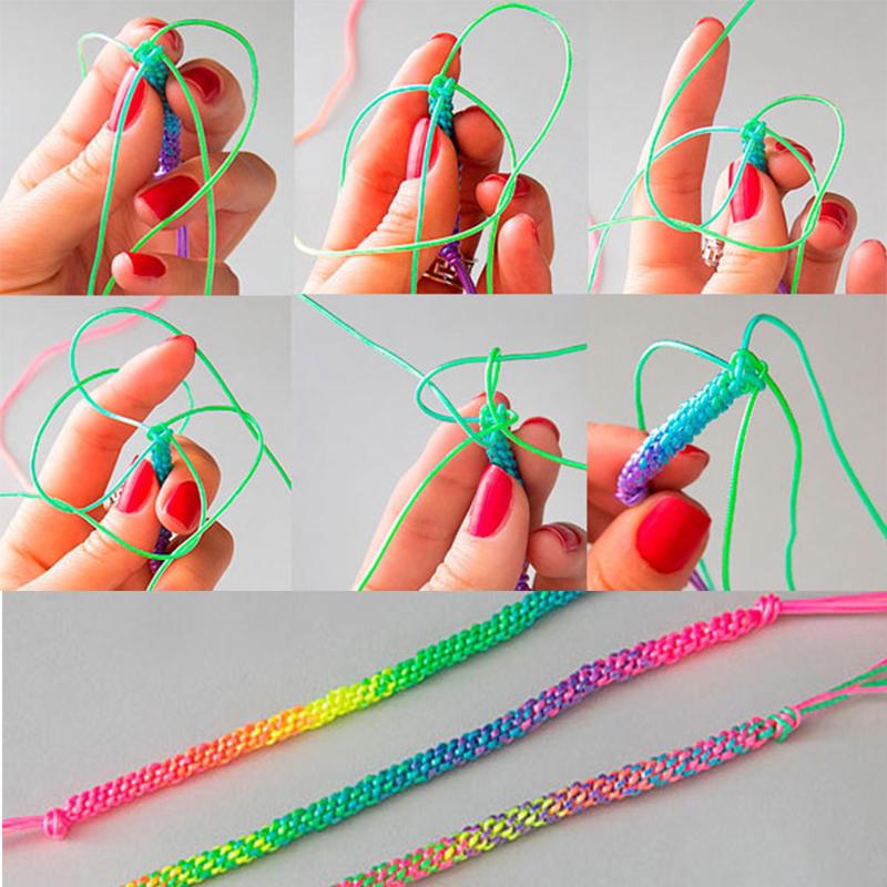 Какие браслеты можно сплести из трубочек. как плести фенечки из трубочек? из ниток мулине