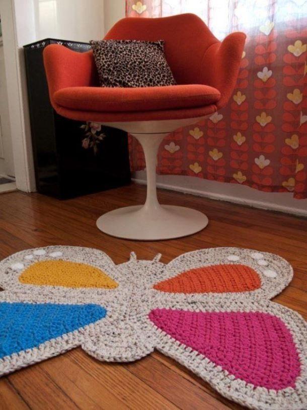 Коврик спицами, 16 схем и описаний для вязания ковриков,  вязание для дома