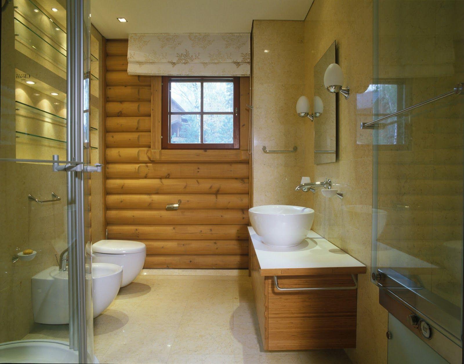 Дизайн ванных комнат в деревянных домах