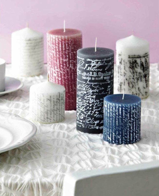 Украшение свечей на новый год своими руками. декорируем свечи