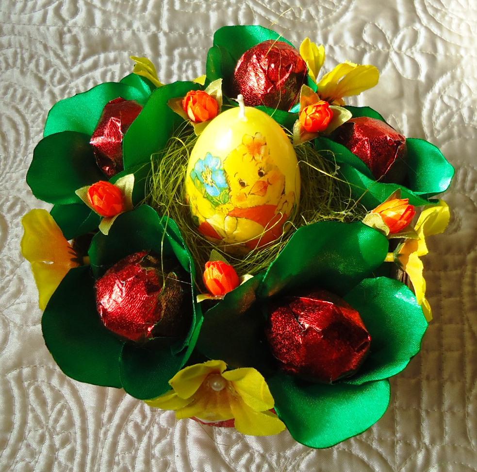 Идеи пасхальных букетов своими руками: из конфет, бумаги и другие