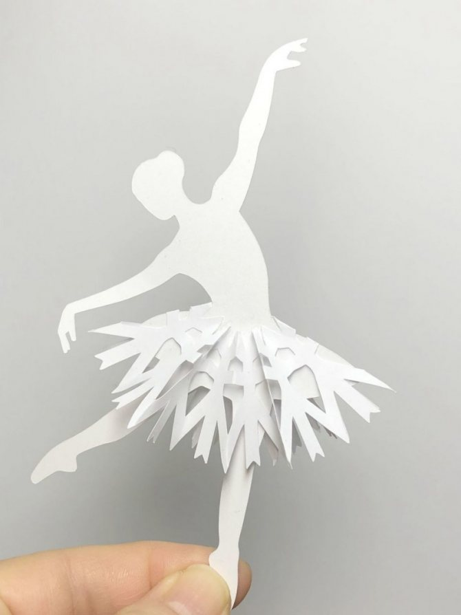 Мастер-класс: балерина из салфеток и проволоки