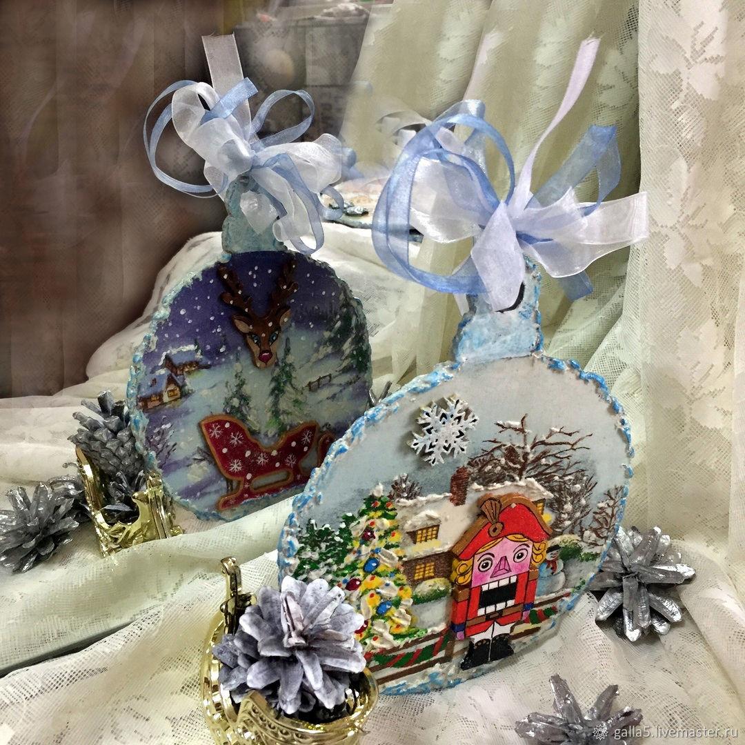 """Тематическая линия """"новый год"""". №20 интерьерное украшение елочка """"снежинка к снежинке"""""""