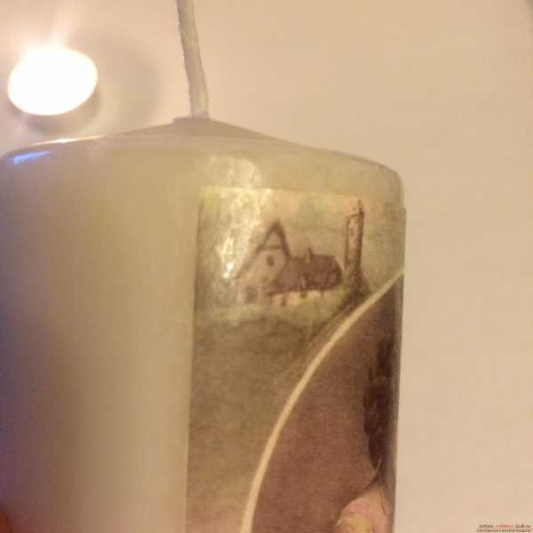 Декупаж свечей своими руками
