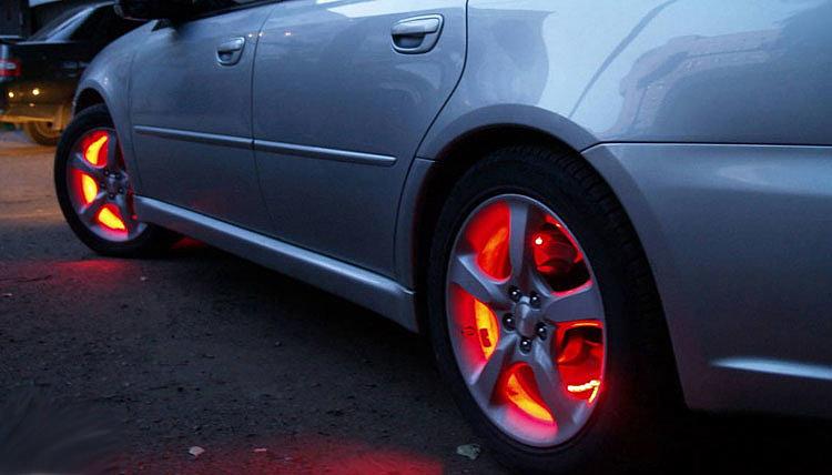 Изменяемая подсветка колес автомобиля