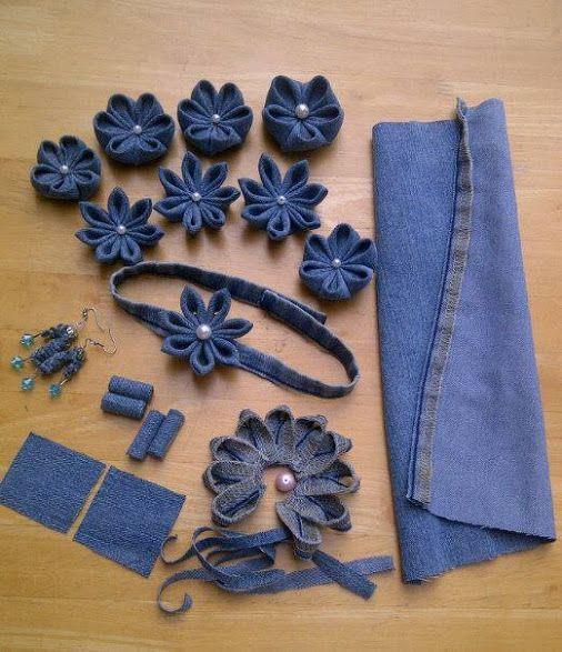 Джинсовые цветы или 5 идей, как сделать красивое из старого