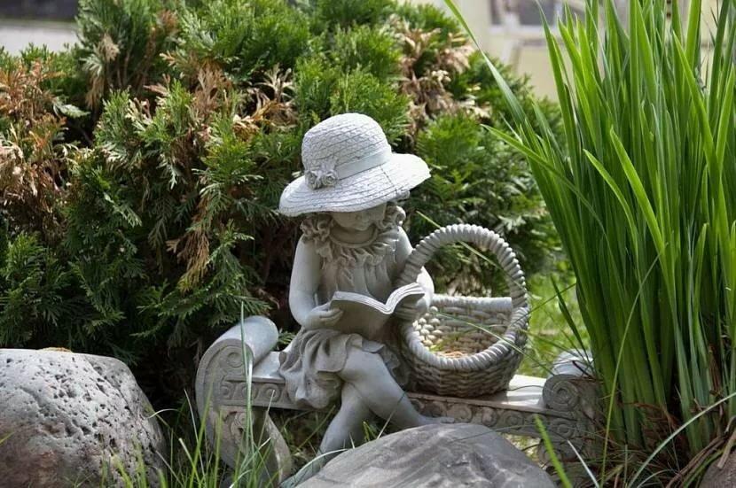 Фигуры из бетона: садовые скульптуры, сделанные своими руками