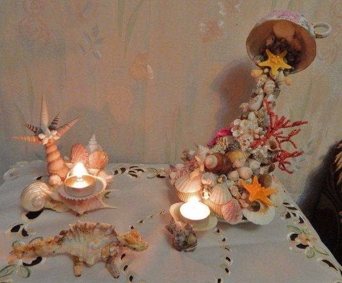 Морские ракушки в интерьере, декор для дома своими руками