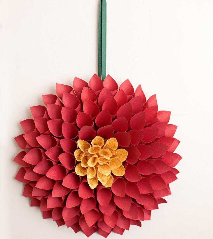 Цветы из бумаги: георгины к 1 сентября