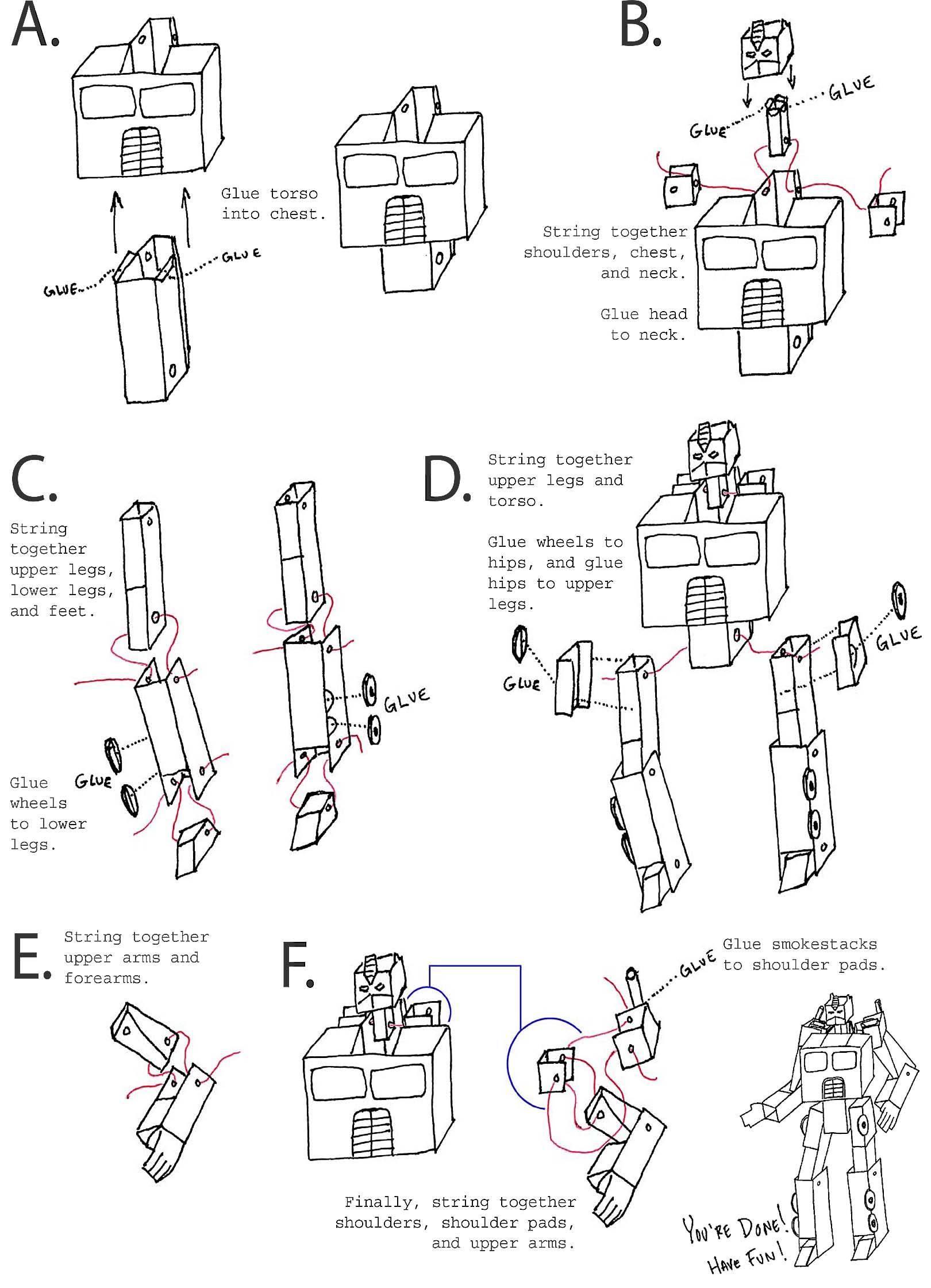 Трансформер из бумаги своими руками. как сделать из бумаги трансформера? игрушка-трансформер из бумаги