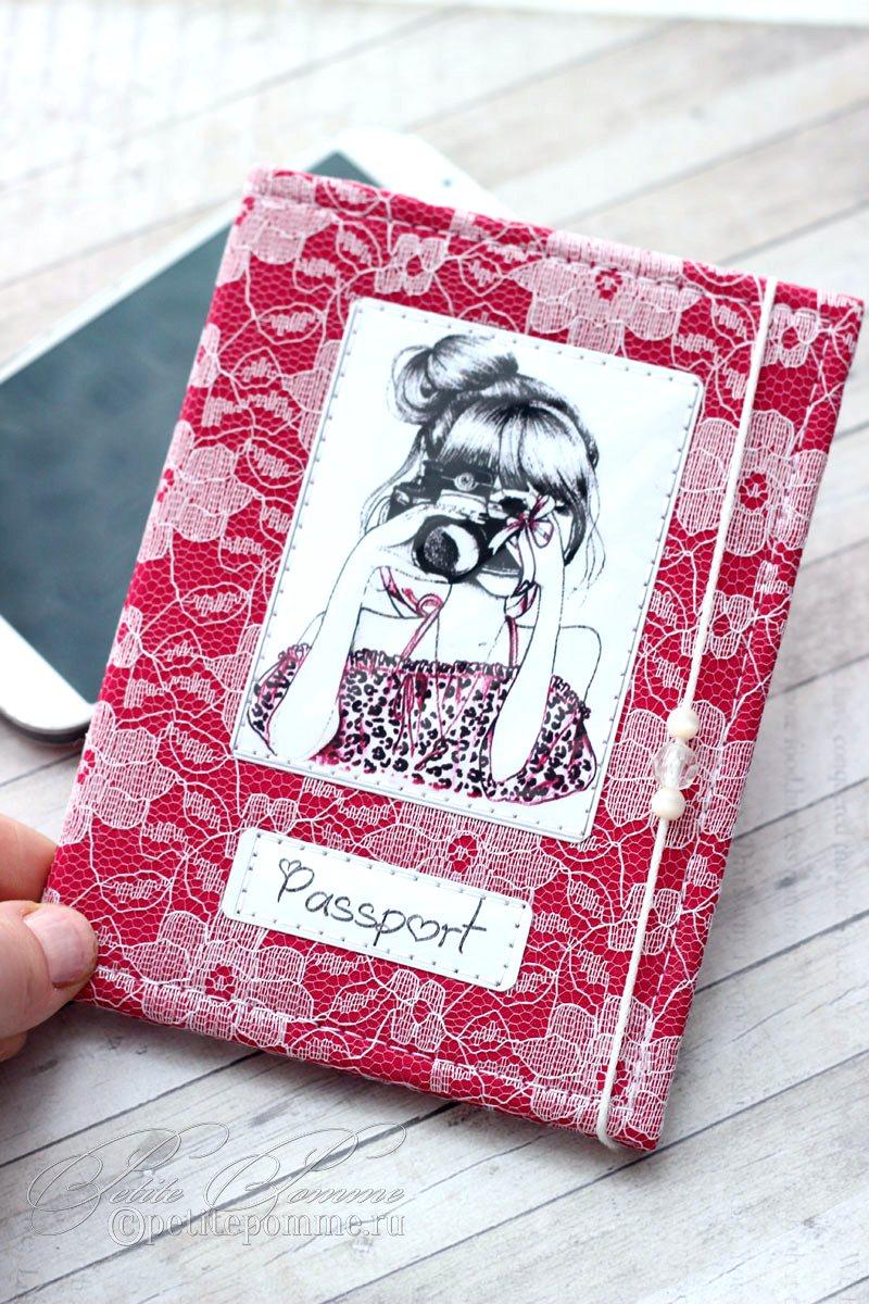 Мк по изготовлению обложки на паспорт. | страна мастеров