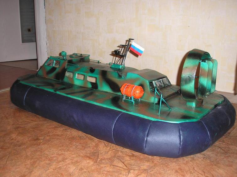 Катер-амфибия своими руками.           самодельный аппарат на воздушной подушке
