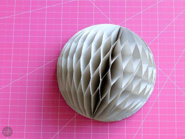 Как сделать шар из бумаги? схема изготовления с видео