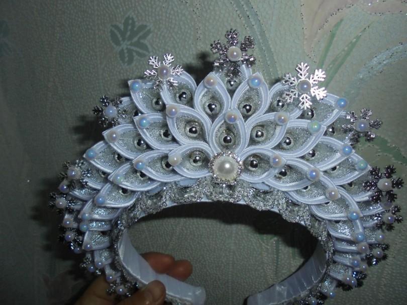 Корона для снежной королевы!!! - канзаши - страна мам