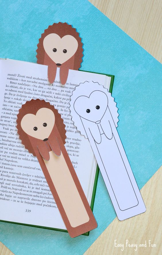 5 легких идей, как сделать закладку для книги своими руками из бумаги