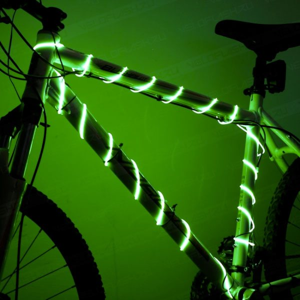 Подсветка для велосипеда: светодиоды для колес и светящиеся колпачки, светящиеся ниппеля и другие варианты. выбор светодиодной ленты