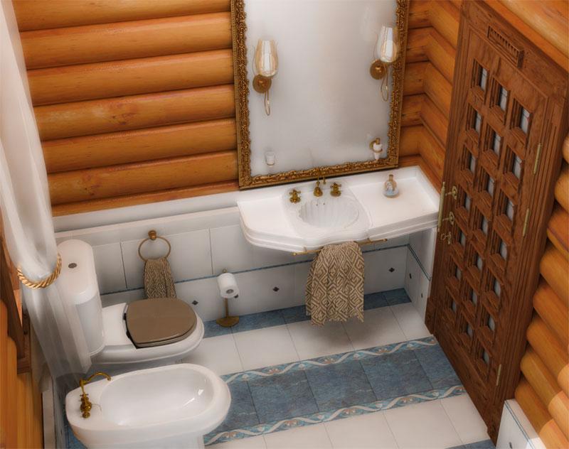 Санузел в деревянном доме (76 фото): дизайн комнаты в доме из бруса на даче, примеры отделки пола, схемы вентиляции