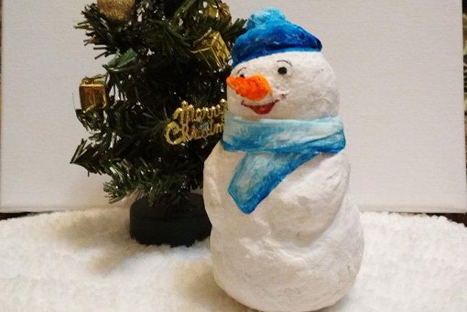 Поделки на новый год: снеговик из ваты своими руками (фото + видео)