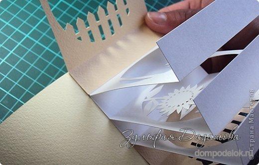 Поделка изделие бумажный туннель открытка-рамочка-туннель бумага картон клей