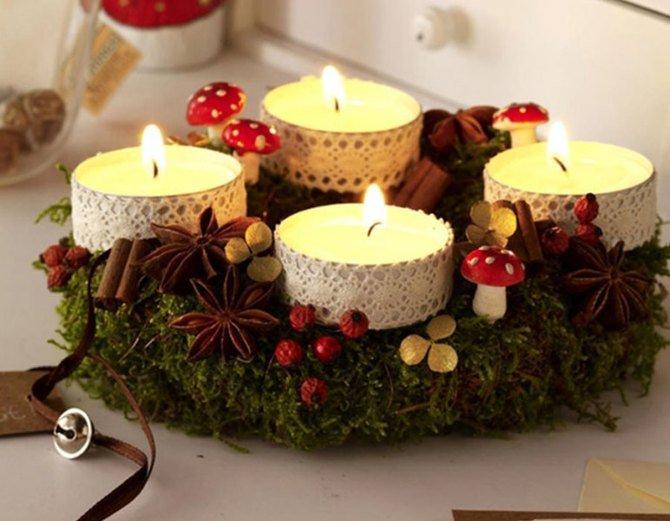 Декор свечей - 70 фото лучших вариантов красивого оформления