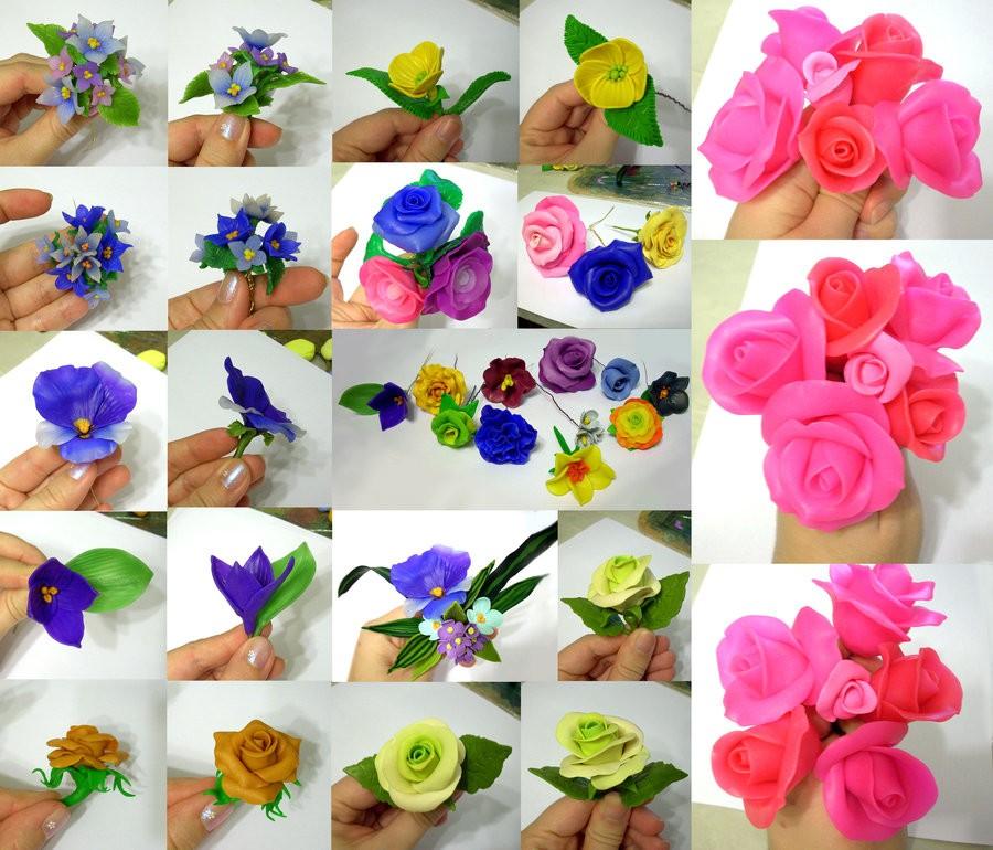 Цветы из полимерной глины (мастер-классы)