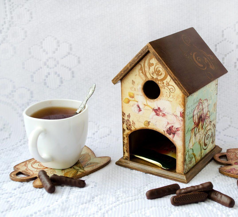 Декупаж чайного домика (63 фото) - пошаговый мастер-класс для начинающих по оригинальному оформлению