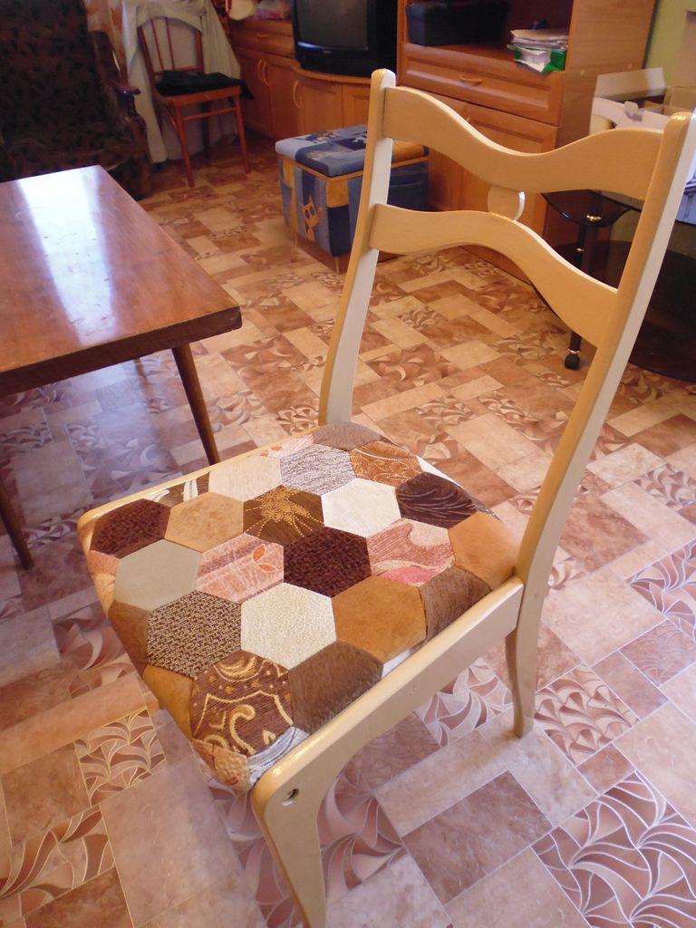 ? как я сделала новый стул из бабушкиного хлама