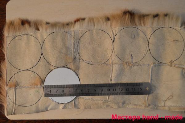 Меховые изделия. резинка - цветок из кожи и меха как сшить резинку из норки