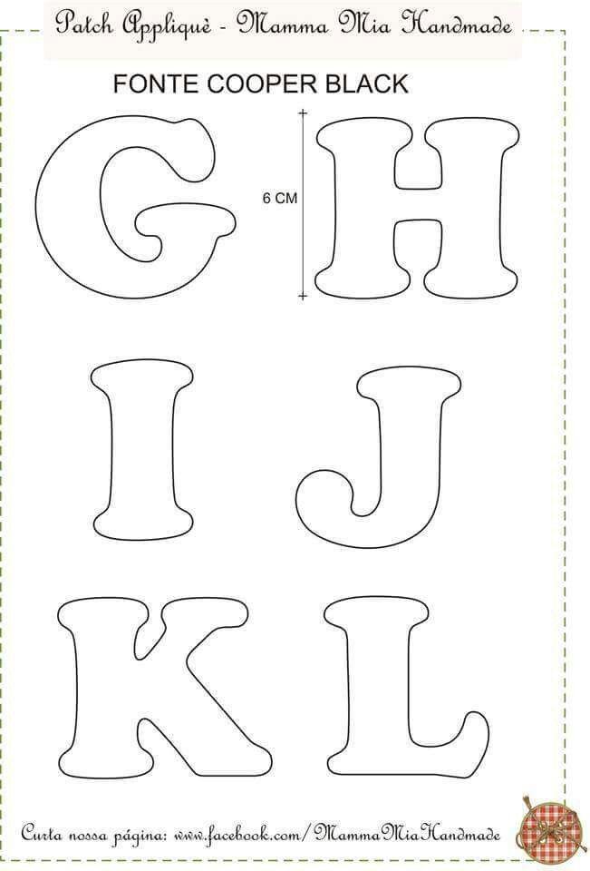 Алфавит из фетра: выкройка своими руками и мастер класс