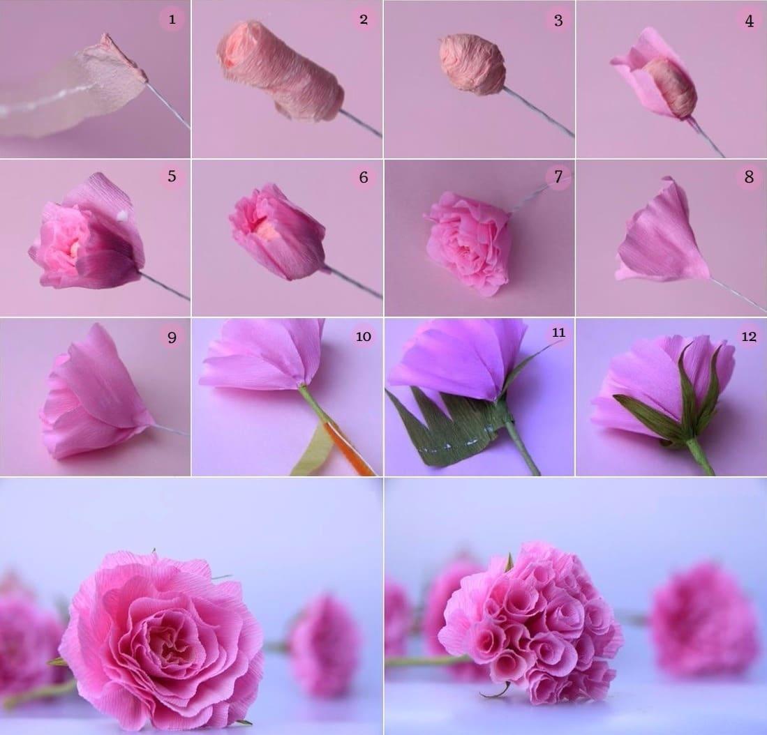 Цветы из салфеток своими руками: 12 оригинальных идей