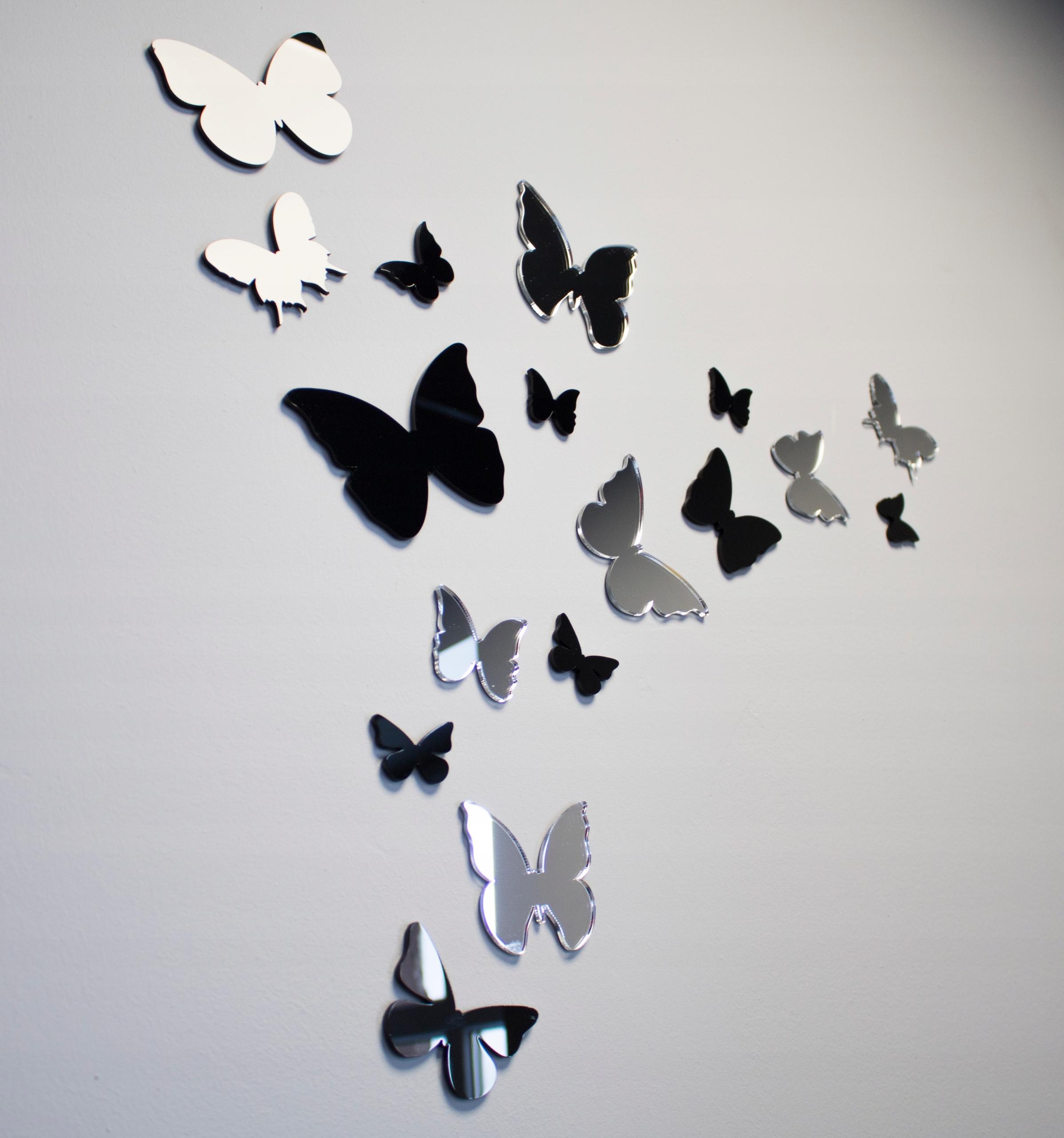 Бабочки на стену: трафареты для создания своими руками