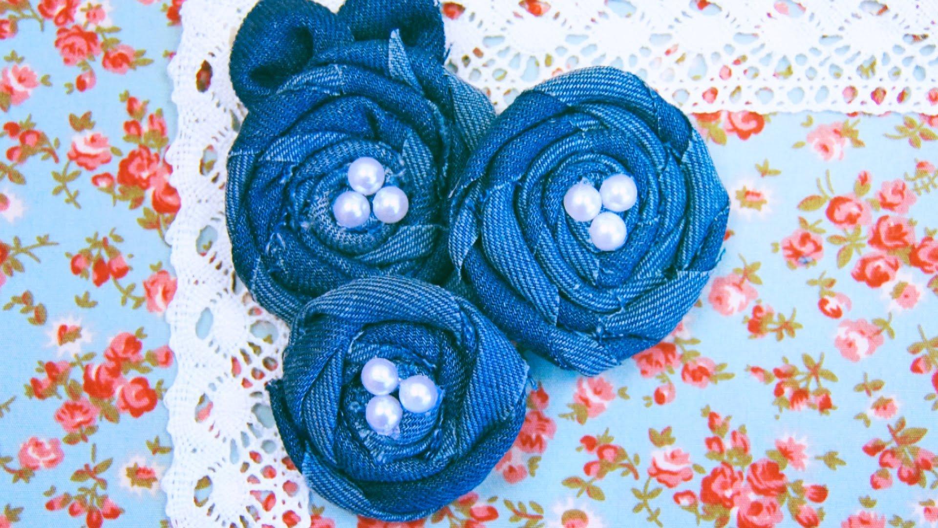 Цветы из джинсовой ткани своими руками для начинающих: как сделать, пошагово