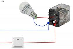Светодиодная лампа светится при выключенном выключателе