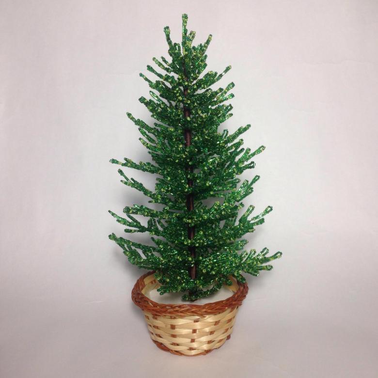 Пушистые новогодние елки из бисера. мастер-класс с пошаговыми фото » master classy - мастер классы для вас