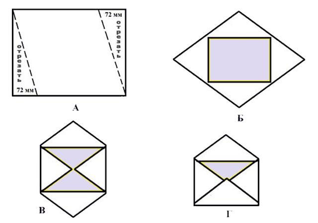 Как сделать конверт из бумаги?