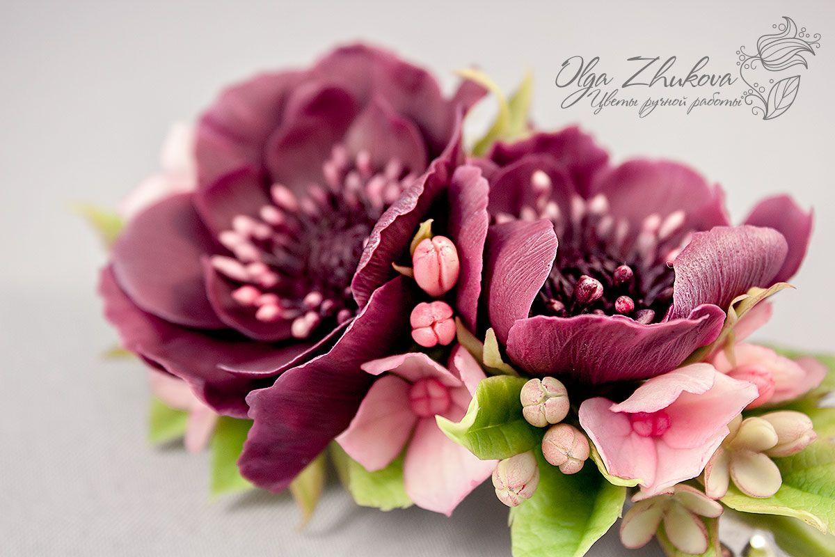 Как лепить цветы из холодного фарфора своими руками