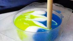 Как сделать свирлы в мыле из основы