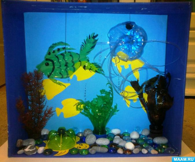 Поделки аквариум с рыбками – как сделать из бумаги аквариум с рыбками