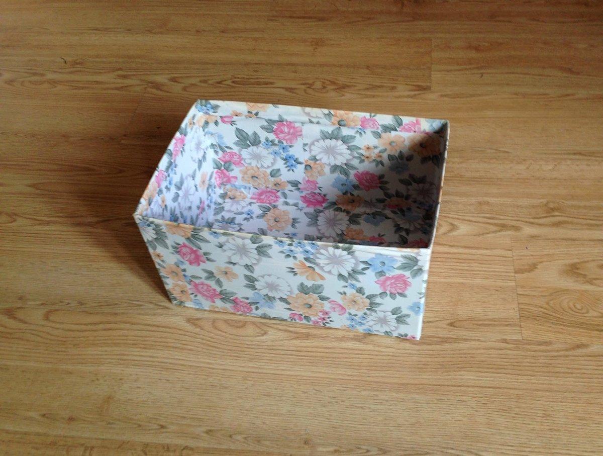 Декупаж картонной коробки или упаковки из-под обуви своими руками