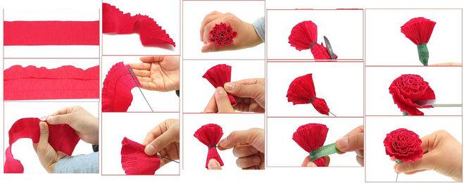 Гвоздики из бумаги своими руками для детей — мастер-классы с шаблонами и схемами