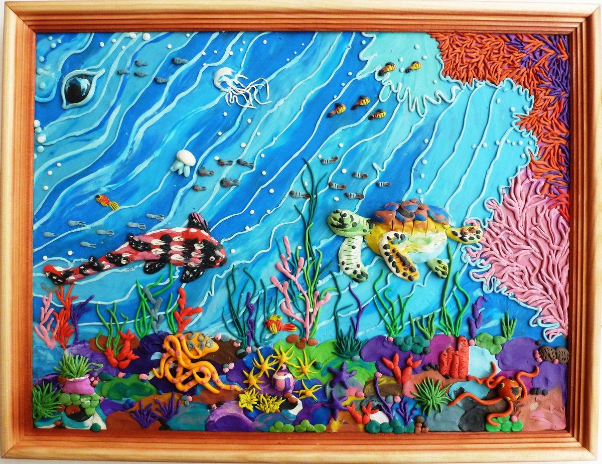 Картина панно рисунок мастер-класс 8 марта аппликация из пластилина + обратная пластилиновая живопись пластилин