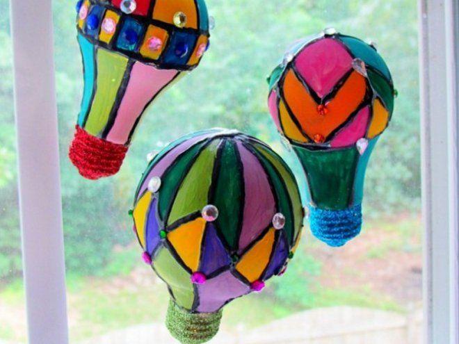 Лампа воздушный шар своими руками. воздушный шар из старой лампочки