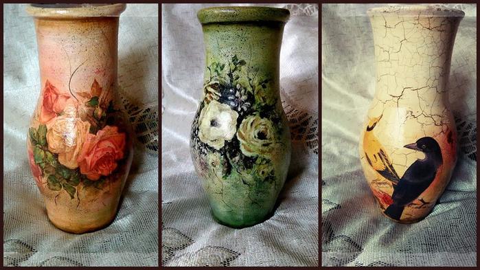 Новая жизнь старой вазы. мастер-класс