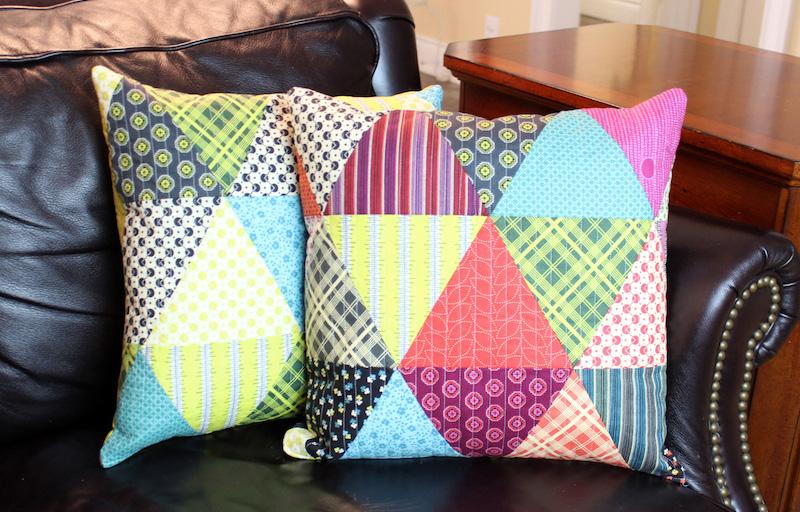 Новогодний подарок без затрат: лоскутная подушка своими руками