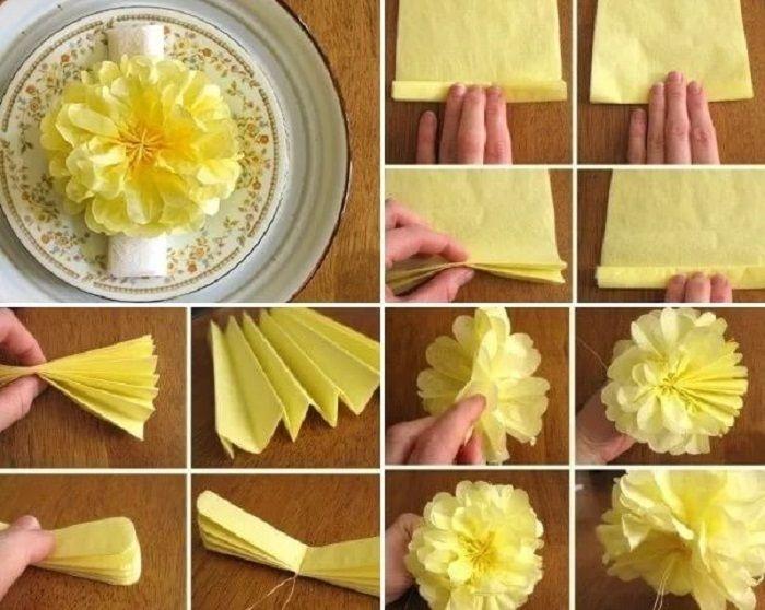 ᐉ простые цветы из салфеток своими руками схемы. как сделать из салфеток цветы ✅ igrad.su