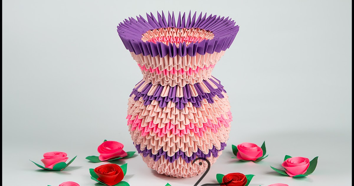 Модульное оригами ваза пошаговая схема сборки